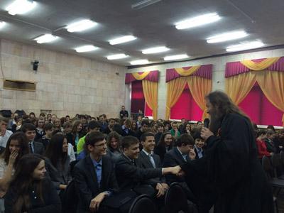 Со страшеклассниками г.Сосенский